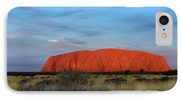 IPhone Case featuring the photograph Uluru Sunset 03 by Werner Padarin
