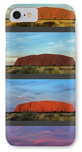 IPhone Case featuring the photograph Uluru Sunset by Werner Padarin