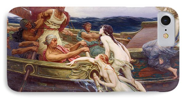 Ulysses And The Sirens IPhone Case by Herbert James Draper