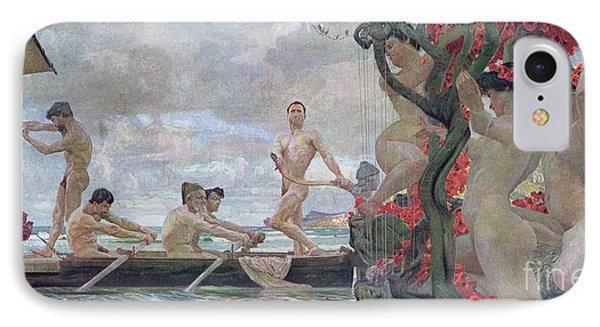 Ulysses And The Sirens IPhone Case by Otto Greiner