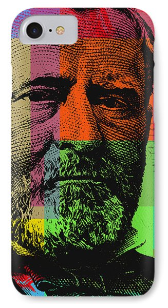 IPhone Case featuring the digital art Ulysses S. Grant - $50 Bill by Jean luc Comperat