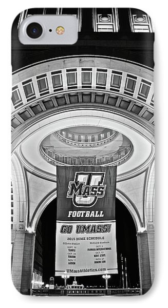 Umass Black And White IPhone Case by Frozen in Time Fine Art Photography