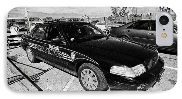 umass university campus police patrol vehicle Boston USA IPhone Case
