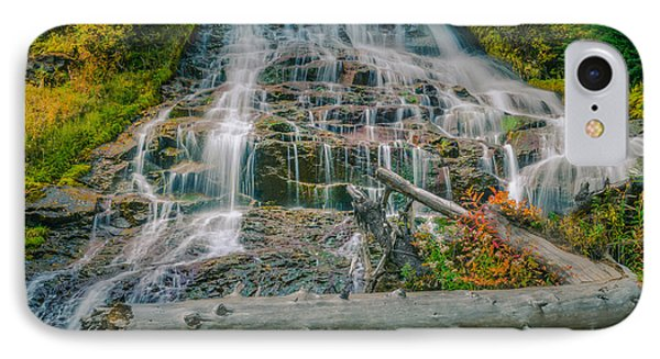 Umbrella Falls IPhone Case by Don Schwartz