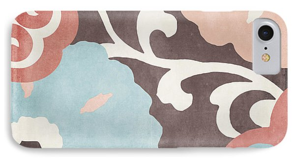 Umbrella Skies II Suzani Pattern IPhone Case by Mindy Sommers