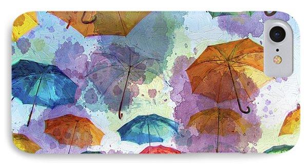 Umbrella Sky IPhone Case by Autumn Moon