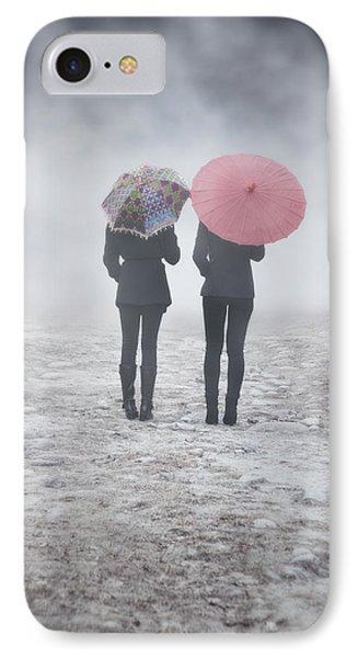 Umbrellas In The Mist Phone Case by Joana Kruse