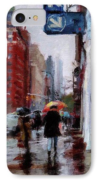 Umbrellas On Amsterdam Aveune Phone Case by Peter Salwen