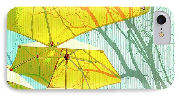 Umbrellas Yellow IPhone Case