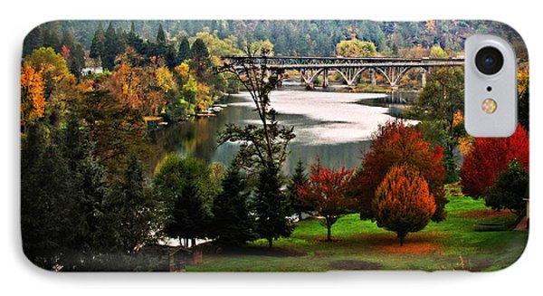Umpqua Bridge In The Fall IPhone Case by Katie Wing Vigil