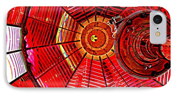 Umpqua River Lighthouse Lens In Hdr Phone Case by Nick Kloepping