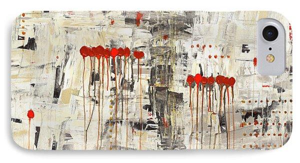 IPhone Case featuring the painting Un Pour Tous by Carmen Guedez
