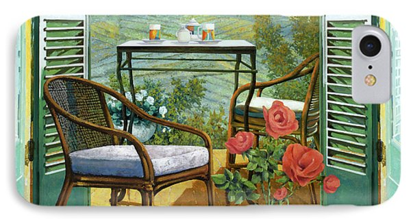 Un Vaso Di Rose IPhone Case by Guido Borelli