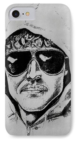 Unabomber Ted Kaczynski Police Sketch 1 IPhone Case by Tony Rubino