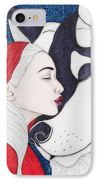 IPhone Case featuring the mixed media Unafraid by Natalie Briney