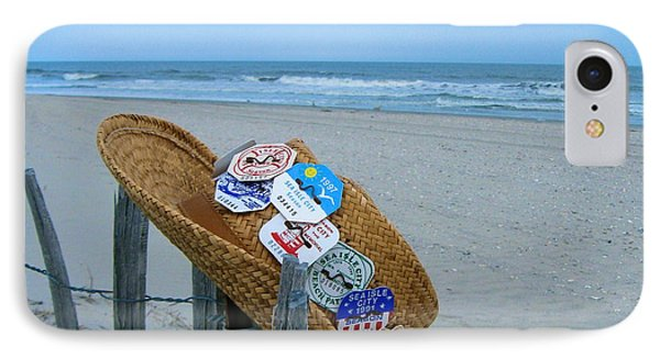Uncle Carl's Beach Hat IPhone Case by Nancy Patterson
