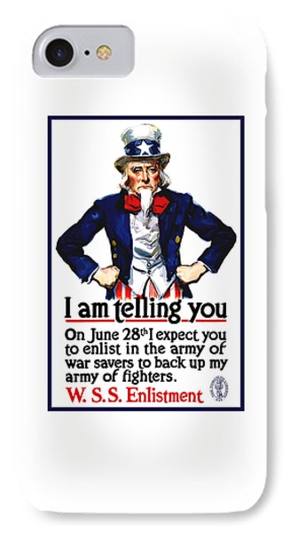 Uncle Sam -- I Am Telling You IPhone Case
