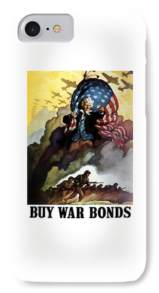 Uncle Sam - Buy War Bonds Phone Case by War Is Hell Store