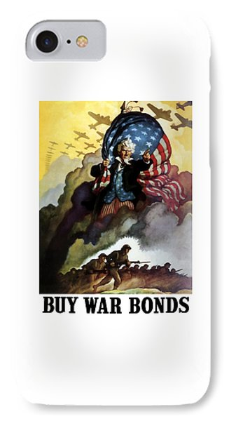 Uncle Sam - Buy War Bonds IPhone Case by War Is Hell Store