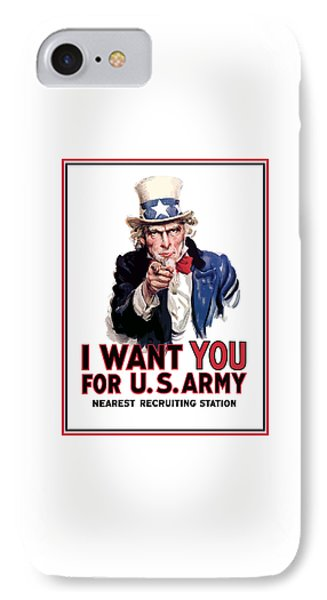 Uncle Sam -- I Want You IPhone 7 Case