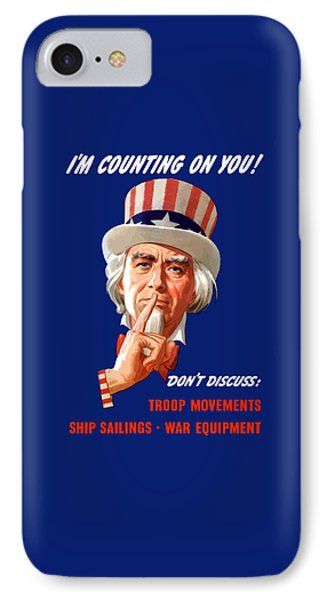 Uncle Sam - I'm Counting On You IPhone Case by War Is Hell Store