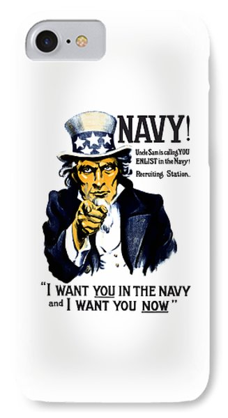 Uncle Sam Wants You In The Navy Phone Case by War Is Hell Store