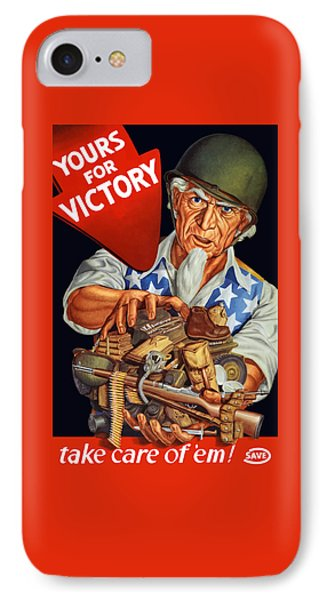 Uncle Sam - Yours For Victory Phone Case by War Is Hell Store