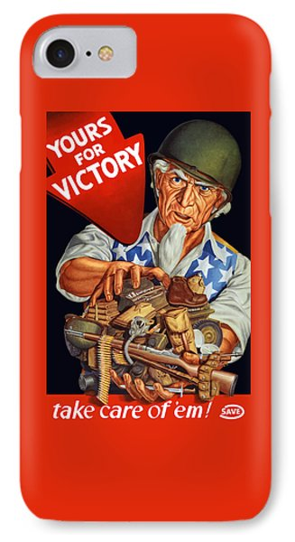 Uncle Sam - Yours For Victory IPhone Case