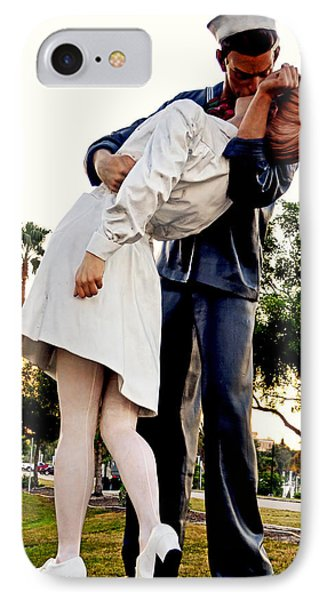 Unconditional Surrender Statue - Sarasota 001 IPhone Case by George Bostian