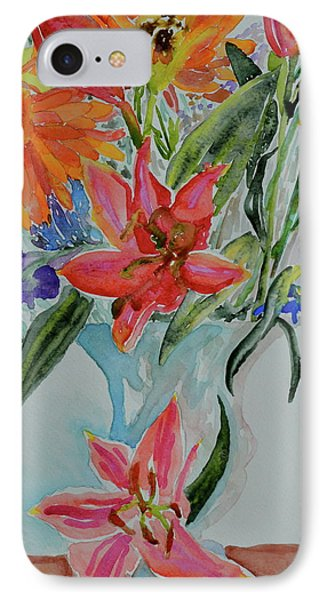 IPhone Case featuring the painting Uncontainable by Beverley Harper Tinsley