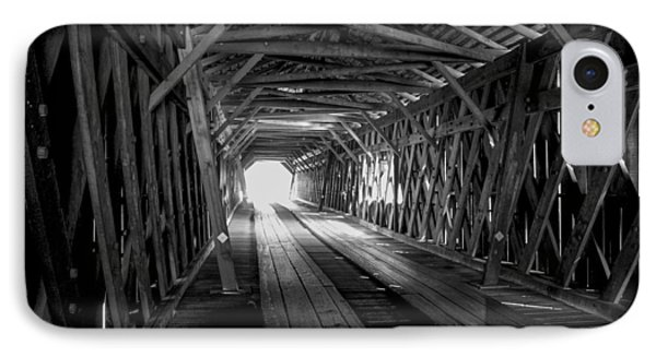 Weatherizing Uncovered Watson Mill Covered Bridge IPhone Case