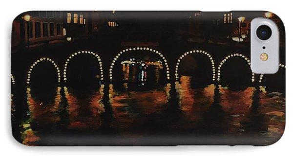 Under A Lighted Bridge In Amsterdam IPhone Case