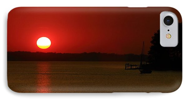Under A Red Sunset IPhone Case by Joseph C Hinson Photography
