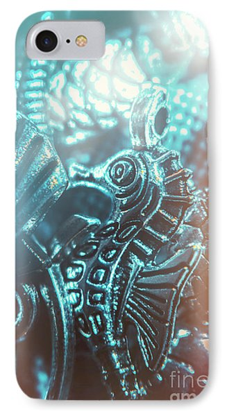 Seahorse iPhone 7 Case - Under Blue Seas by Jorgo Photography - Wall Art Gallery