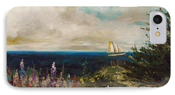 IPhone Case featuring the painting Under Full Sail by John Williams