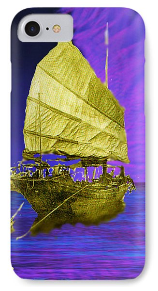 IPhone Case featuring the digital art Under Golden Sails by Seth Weaver