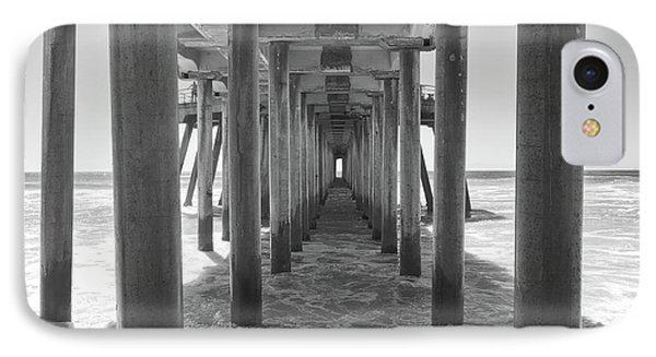 Under Huntington Beach Pier IPhone Case by Ana V Ramirez