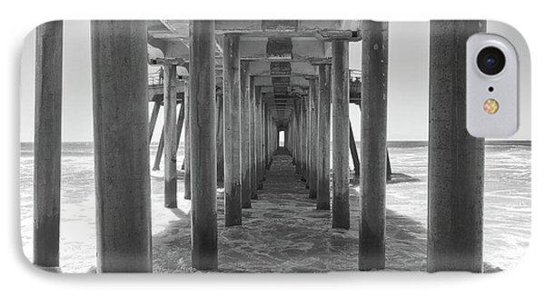 IPhone Case featuring the photograph Under Huntington Beach Pier by Ana V Ramirez