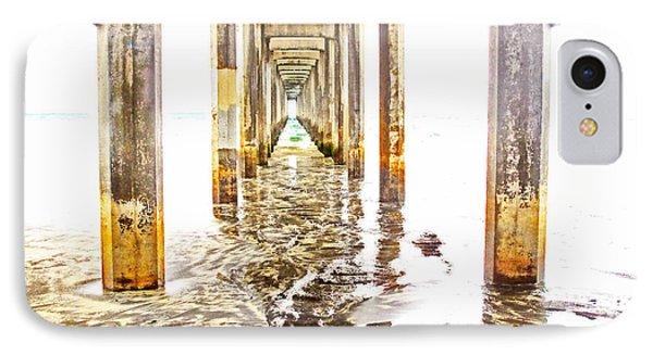 Under Scripps Pier IPhone Case by Ruth Jolly