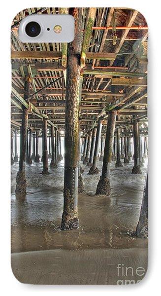 IPhone Case featuring the photograph Under The Boardwalk Pier Sunbeams  by David Zanzinger