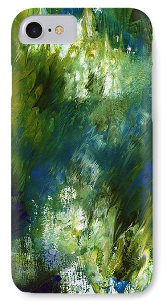 Under The Canopy- Abstract Art By Linda Woods IPhone Case by Linda Woods