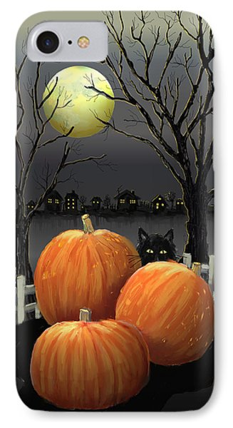 Under The Full Moon IPhone Case by Arline Wagner