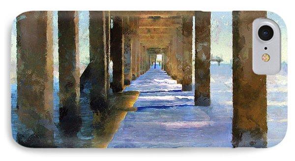 Under The Galvaston Pier IPhone Case by Cedric Hampton