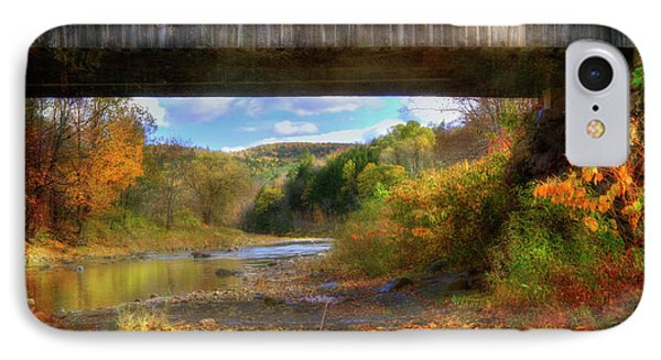Under The Lincoln Covered Bridge - Woodstock, Vt. IPhone Case
