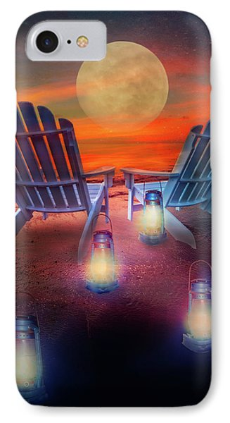 IPhone Case featuring the photograph Under The Moon by Debra and Dave Vanderlaan