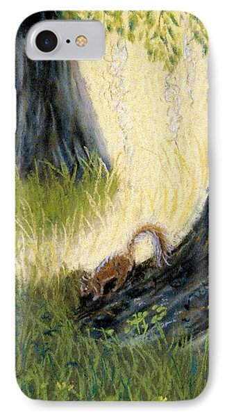 IPhone Case featuring the pastel Under The Mossy Oak by Jan Amiss