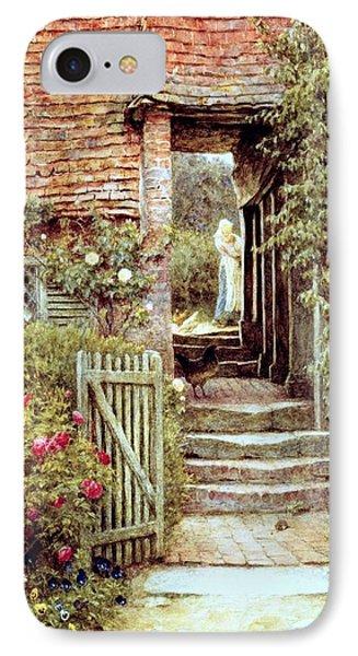 Under The Old Malthouse Hambledon Surrey Phone Case by Helen Allingham