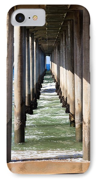 Under The Pier In Orange County California IPhone Case by Paul Velgos