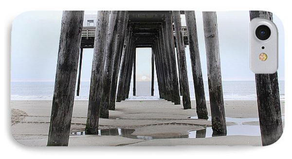 IPhone Case featuring the digital art Under The Pier by Sharon Batdorf