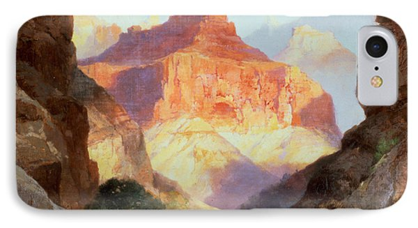 Under The Red Wall Phone Case by Thomas Moran